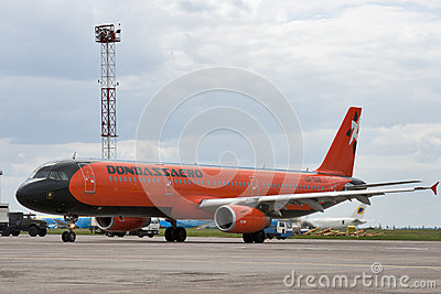 Donbassaero Airbus A320 Editorial Photo