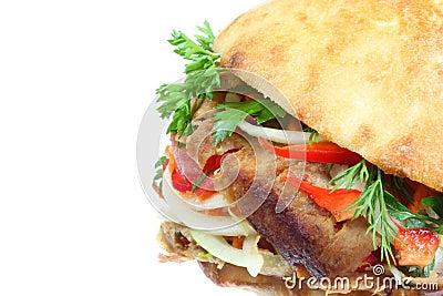 Doner kebab.