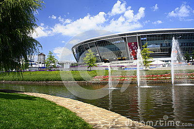 Donetsk, Ukraine,Donbass-Arena - Stadium Editorial Photography