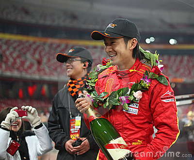Dong ele escaninho na raça dos campeões Beijing 2009 Foto de Stock Editorial