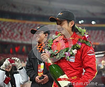 Dong él compartimiento en la raza de campeones Pekín 2009 Foto de archivo editorial