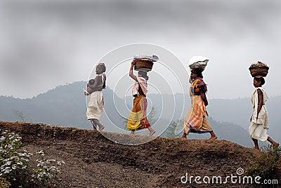 Dongria Kondh tribe's Women in Orissa-India Editorial Photo