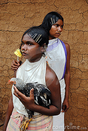 Dongria Kondh tribe's Women in Orissa-India Editorial Image