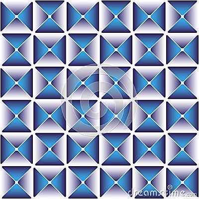 Donkerblauw gordijnpatroon