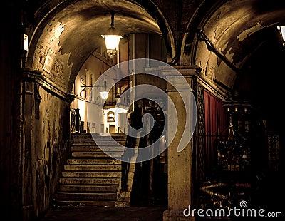 Donkere gotische scène