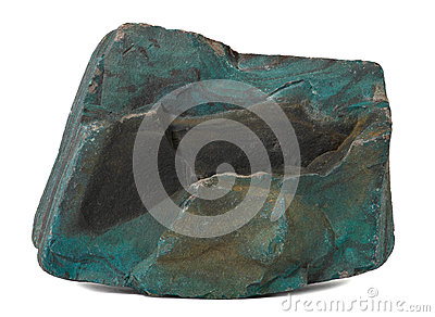 Donkergroene steen