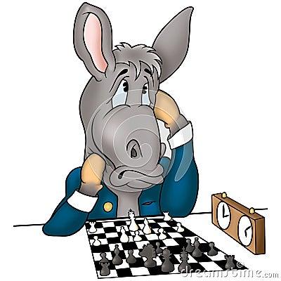 Donkey chessplayer