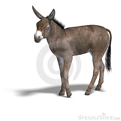 Free Donkey Render Royalty Free Stock Image - 9343956