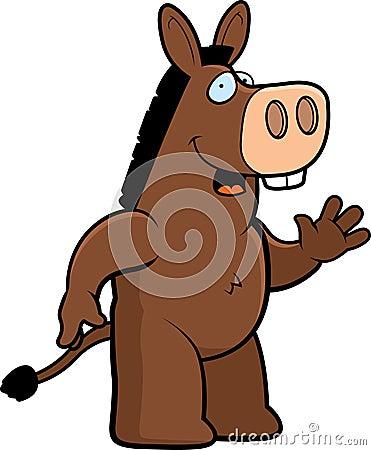 Donkey Waving