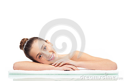 Donna alla stazione termale, ritratto