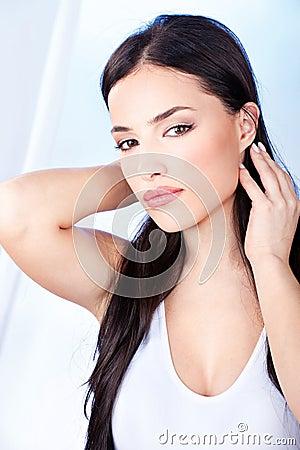 Donna con gli orli sensuali