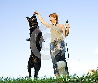 Donna con il suo cane