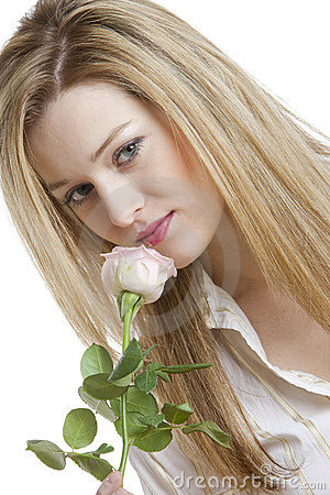 Donna con una rosa