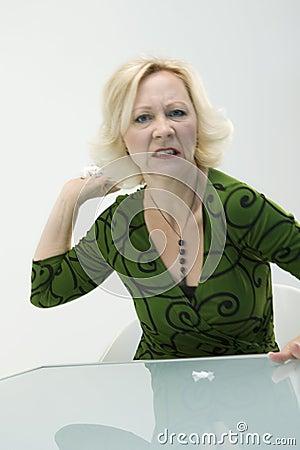 Donna di affari arrabbiata