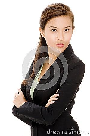 Donna di affari asiatica