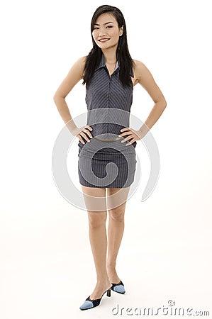 Donna di affari asiatica 8