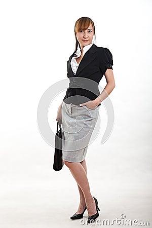 Donna di affari cinese attraente di gli anni quaranta