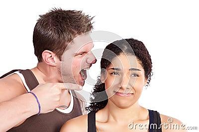 Donna di esercitazione con l addestratore