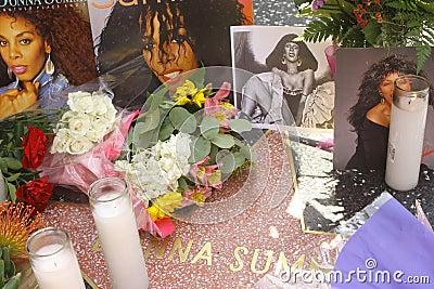 Donna Summer memorial Editorial Photography