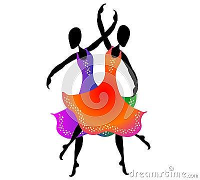 Donne che ballano arte di clip 2