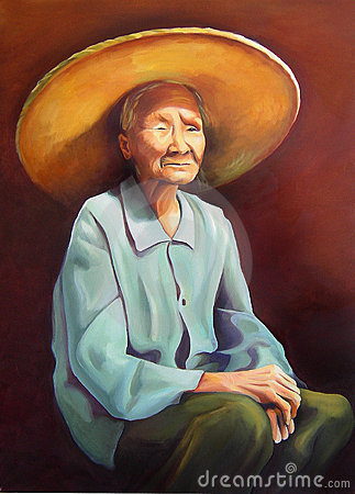 Donne cinesi anziane con un cappello