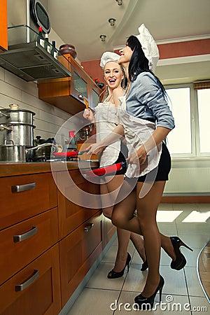naked kitchen sex porno gif