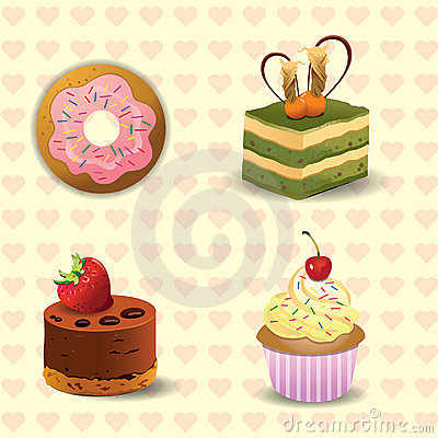 donut and cake