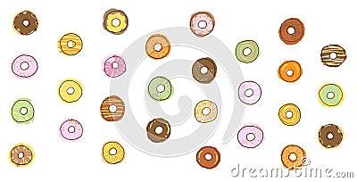 donut icon illustration, food