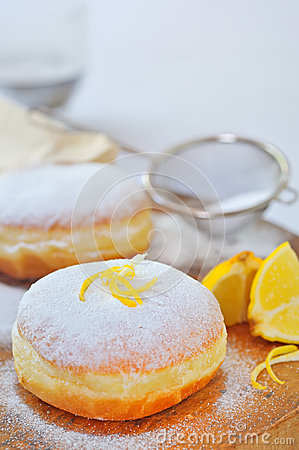 Donut with lemon