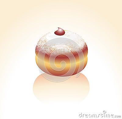 Donut, sprinkled with a sugar powder