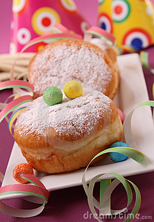 Donuts and festive decoration