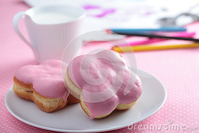 Donuts with milk