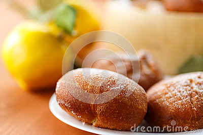 Donuts with quince