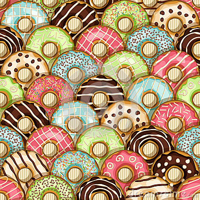 Free Donuts Seamless Pattern Stock Photos - 47278103