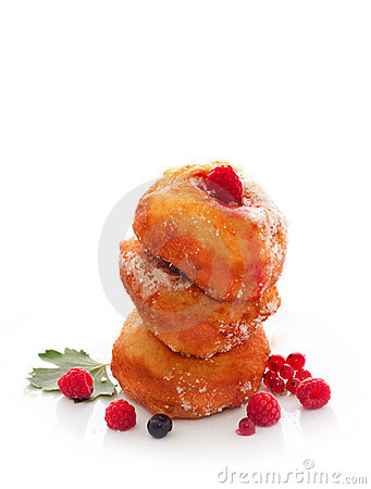 Free Donuts With Berries Royalty Free Stock Photos - 20285848