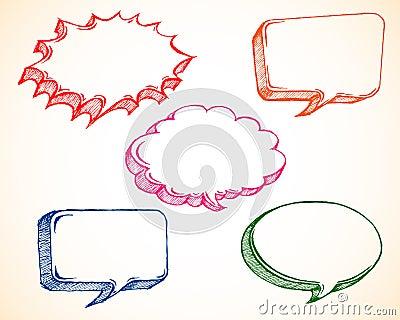 ομιλία φυσαλίδων doodle