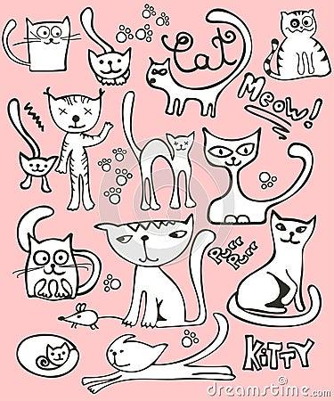 комплект doodle кота