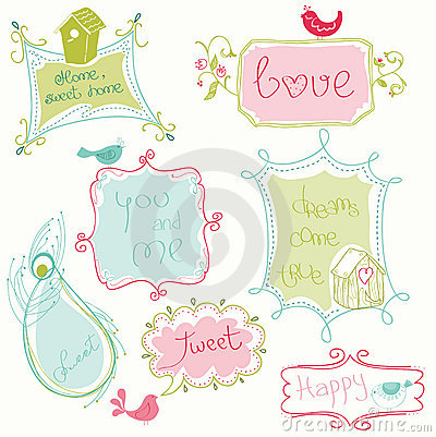 Doodle γλυκό πλαισίων