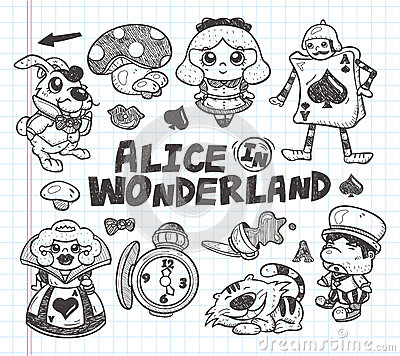 Doodle alice in wonderland element