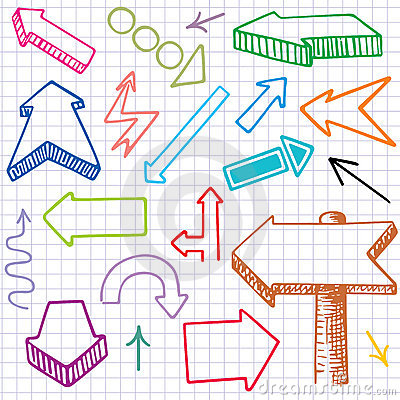 Doodle Arrows. Seamless background.