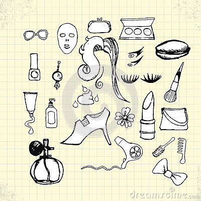 Doodle Beauty Style On Paper Stock Vector Image 42617585