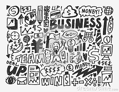 Doodle biznesu element