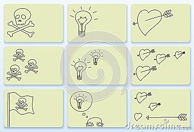 Doodle business cards