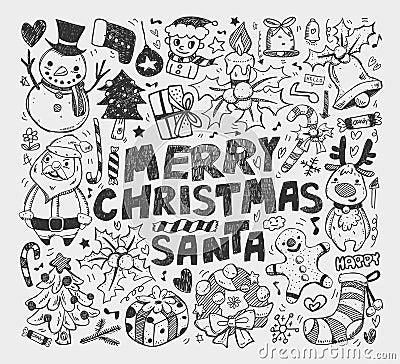 Doodle christmas element