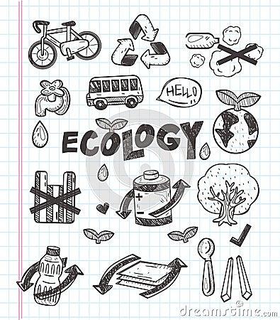 Doodle eco icon