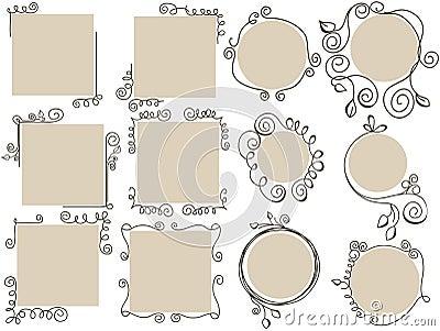 Doodle frames set