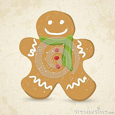 Doodle Gingerbread man vector illustration