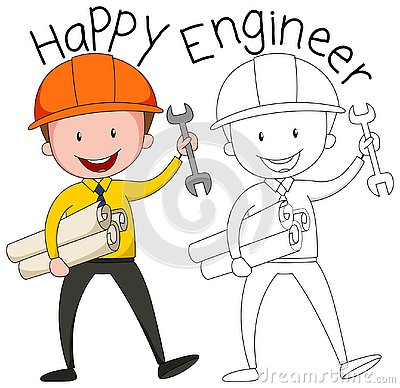 Free Doodle Graphic Of Engineer Royalty Free Stock Photos - 130368368