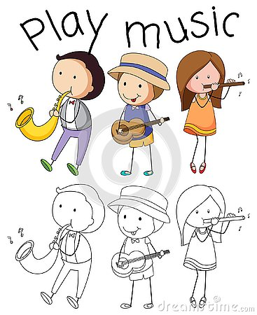 Free Doodle Graphic Of Musician Stock Photo - 130369360