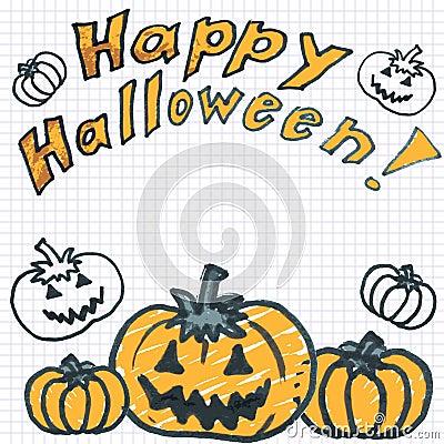 Doodle halloween pumpkins